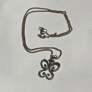 James Avery Butterfly Necklace in Sterlimg Silver